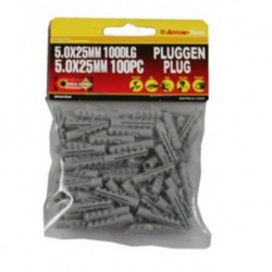 pluggen 5 mm nylon / 100 dlg