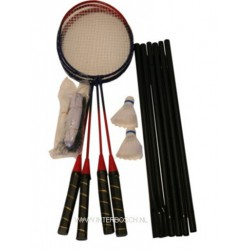 badmintonset 4 dlg + net